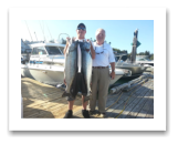 July 30, 2016 : 22 & 21 lbs. Chinook Salmon - Otter Point - Sooke Derby Day 1 of 2 - 14th & 15th place for The Morin Group and Charlie from Alberta & Victoria BC