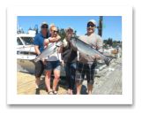 August 4, 2016 : 16 & 15 lbs. Chinook Salmon - Muir Creek - Kate, Scott, Dan, & Stacey from Victoria BC