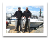 August 8, 2016 : 26, 24, 19, 17 lbs. Chinook Salmon - Otter Point - Day 2 of 2 - 9th year in a row fishing with BlueWolf - John & Joel from Edmonton Alberta