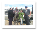August 10, 2016 : 15 & 14 lbs. Chinook Salmon - Otter Point - Nick, Heidi, Meghan, & Brian from Calgary Alberta
