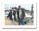 August 9, 2016 : 12 & 8 lbs. Chinook Salmon - Otter Point - Melissa & Mike from California