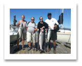 August 13, 2016 : 29, 13, 12 lbs. Chinook Salmon & Hatchery Coho - Otter Point - Jane & Jack from Edmonton with Stu from Seattle & Rick from Nanaimo BC