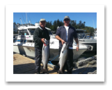 August 15, 2016 : 22 & 21 lbs. Chinook Salmon - Becher Bay - Day 2 of 3 - Horst & Byron from Edmonton Alberta