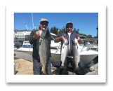 August 16, 2016 : 18, 11, 10 lbs. Chinook Salmon - Race Rocks - Day 3 of 3 - Horst & Byron from Edmonton Alberta