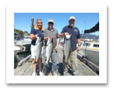 August 19, 2016 : 18, 15, 13 lbs. Chinook Salmon - Otter Point - Day 2 of 2 - Morris from Washington with Mark & Theresa from Dallas Texas