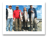 August 30, 2016 : 17 & 13 lbs. Chinook Salmon & Hatchery Coho - Muir Creek -  Ivan, Vladimir, Katerina, & Krum from Bulgaria and Victoria BC