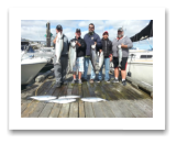 August 27, 2016 : 12 to 23 lbs. Chinook Salmon &  Hatchery Coho - Otter Point - Day 2 of 2 - Big Al from Calgary and Crew