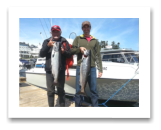 August 29, 2016 : 16 & 13 lbs. Chinook Salmon - Otter Point -  Tobi & Jim from Victoria BC