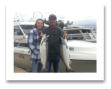 September 1, 2016 : 11 &  9 lbs. Hatchery Coho Salmon - Muir Creek -  David & Jaylin Brewer Chandle from Phoenix Arizona