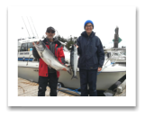 September 5, 2016 : 20 lbs. Chinook Salmon & 12 lbs. Hatchery Coho - Muir Creek -  Dave & Diane from Victoria