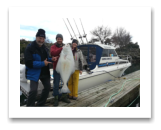 March 5, 2017 : 43 lbs. Halibut  - Albert Head - Christine & Kirk from Parksville BC with Perry from Victoria BC