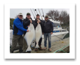 March 21, 2017 : 42 & 36 lbs. Halibut  - Albert Head - Day 1 of 2 - James, Chris, Ben, & Rob from Vancouver BC