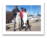 April 3, 2017 : 35 & 26 lbs. Halibut  - Albert Head - Hey Buddy!! Thanks again for an awesome day... Jessica, Myles, Gord, & Rob from Victoria BC and Calgary Alberta