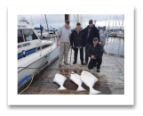 April 22, 2017 : 75, 32, 28 lbs. Halibut  - Albert Head - Bill, Bill Jr, Peter, & Paul from Vancouver BC