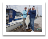 May 18, 2017 : 35 lbs. Halibut  - Day 2 of 2 - Albert Head - Karen, Pierre, & Elmer from Edmonton Alberta