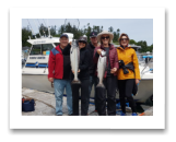 June 9, 2017 : 11 & 8 lbs. Chinook Salmon  - Muir Creek - Sue, George, Sue, Geoff, & Glyn from New Zealand