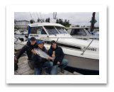 June 8, 2017 : 9 lbs. Chinook Salmon  - Muir Creek - Doug, Norm, & Nick from Victoria BC