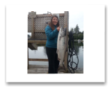 June 19, 2017 : 21 lbs. 83cm Chinook Salmon  - Muir Creek - Kelly from Victoria BC