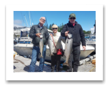 June 20, 2017 : 11, 8, 7 lbs. Chinook Salmon  - Muir Creek - Leonard & Bev from Victoria with Brian from Ottawa