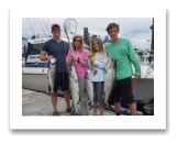 June 25, 2017 : 19, 16, 11, 10 lbs. Chinook Salmon  - Muir Creek - David, Barbara, Josh, & Anna from Virginia