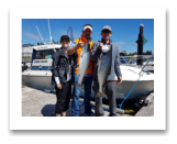 July 2, 2017 : 18 & 12 lbs. Chinook Salmon  - Muir Creek - Day 1 of 2 - Dave, Noah, & Nancy from Texas