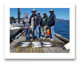 July 18, 2017 : 15 lbs. Chinook Salmon & Limit of Pink Salmon  - Trap Shack - Melanie from Calgary, Ben - China, Grant - Vancouver, Kevin - Toronto, & Peter - Calgary