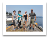 August 3, 2017 : 16, 12, 9 lbs. Chinook Salmon & Pink Salmon - Muir Creek - Josee, Jennifer, Sophie, & Martin from Victoria BC