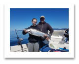 August 1, 2017 : 15 lbs. Chinook Salmon - Sheringham Point - Friends day out with Jim & daughter Julia from Esquimalt BC