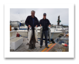 August 14, 2017 : 20, 16, 12 lbs. Chinook Salmon & 12 lbs. Chum Salmon - Muir Creek - Day 1 - John & Joel 10th year fishing with Blue Wolf