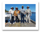 August 21, 2017 : 23, 17, 15, 13 lbs. Chinook Salmon - Muir Creek - Day 3 of 3 - Dennis, Dennis, Darren, & Troy from Alberta and Victoria BC