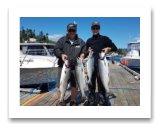 August 23, 2017 : 17, 16, 15 lbs. Chinook Salmon & Pink Salmon - Muir Creek - Day 1 of 2 - Jack & Jane from Edmonton Alberta